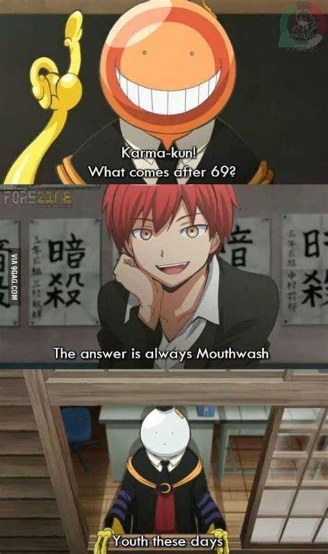Assassination Classroom Memes - 709 best assassination classroom images on pinterest assasination classroom karma and anime boys