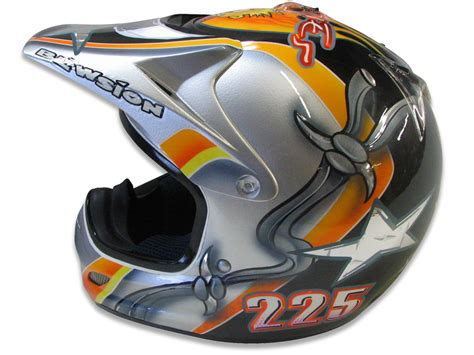 Custom Painted Motocross Helmets