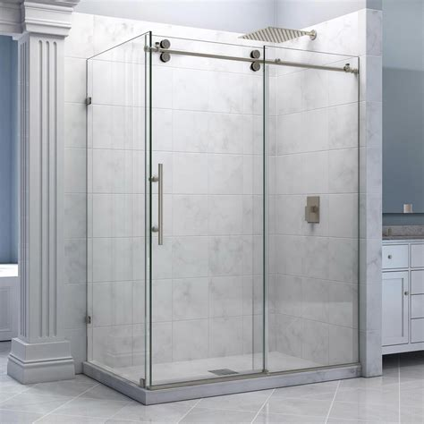 Glass Shower Enclosure Kits by Dreamline Enigma 36 Quot By 60 1 2 Quot Fully Frameless Sliding
