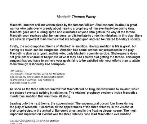 Macbeth Tragic Essay Thesis by Macbeth Tragic Essay Thesis