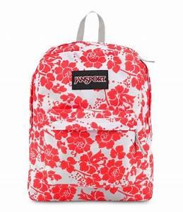 jansport fluorescent red floral fun black label superbreak ...