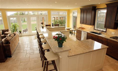 kitchens with islands designs how high should the counter be