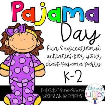 pajama day literacy math  writing  literacy