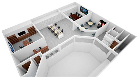 home design exterior and interior office 3d floor plan rendering isometric cg frame 3d