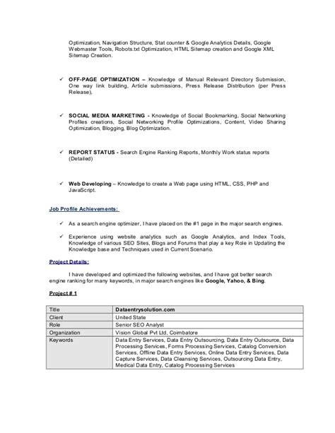 Resume Creation Using Html by Mathavan Seo Resume
