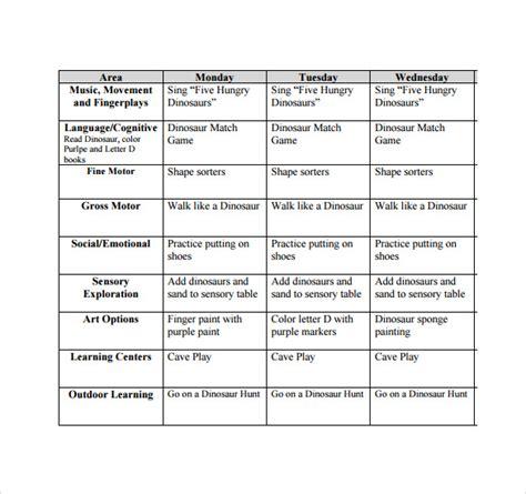 sle toddler lesson plan 8 exle format