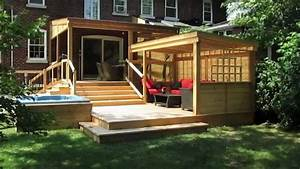 design de patios le patio piscine le patio terrasse le With modele de terrasse en bois exterieur 4 ecran dintimite exterieur patio du nord