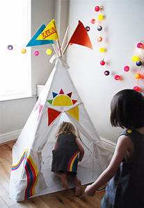 Tipi Little Nice Things : personalised rainbow teepee by wild things funky little dresses ~ Preciouscoupons.com Idées de Décoration
