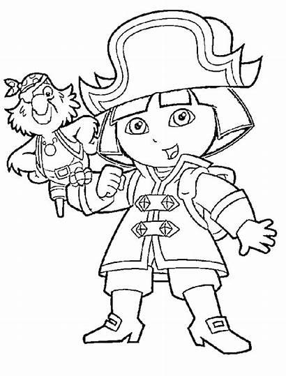 Coloring Pirate Pages Dora Cartoon Explorer Popular