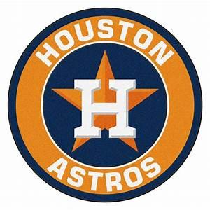 """Houston Astros Logo Roundel Mat - 27"""" Round Area Rug"""