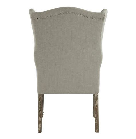 eli country wing back dining side chair linen