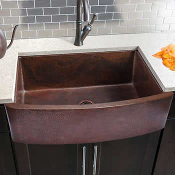 kitchen barn sink hahn copper curved front single bowl farmhouse sink 2286