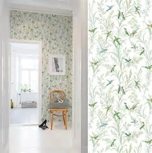 papiers peints pour un couloir shabby chic blog au fil With chambre bébé design avec bouquets ronds fleurs