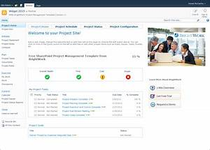 free sharepoint project site template from brightwork With free sharepoint designer templates
