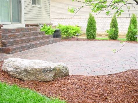 unilock buffalo tumbled brick paver patio brick pavers