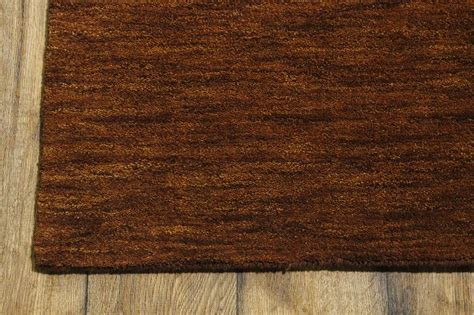 Rust Colored Rug by Handmade Rust Color Solid Pattern 5x7 Modern Gabbeh