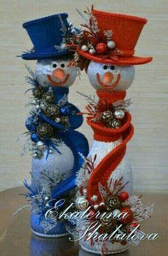 fishbowl snowman centerpiece holidays  pinterest christmas christmas decorations
