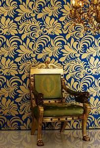 Papier Peint Noir Et Doré : le papier peint baroque et le style moderne classique ~ Melissatoandfro.com Idées de Décoration