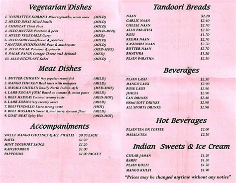 indian cuisine menu indian cuisine menu menu for indian cuisine