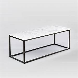box frame coffee table marble antique bronze west elm With narrow marble coffee table