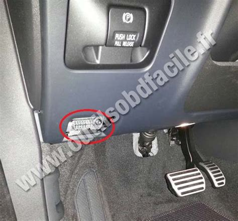 obd connector location  volvo xc