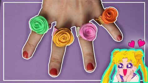 Como hacer anillos de Goma Eva con flores Como fazer