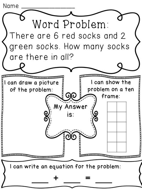 free addition word problems worksheets for kindergarten addition word problems on activity worksheets ten