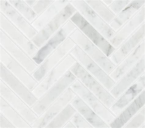 Carrara Marmor Fliesen by Carrara Honed Marble Herringbone Mosaic Tile Mandarin