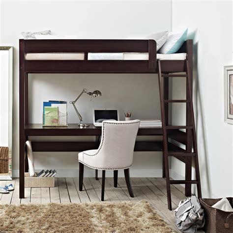 Desk In Kitchen Ideas - dorel living dorel living harlan loft bed with desk espresso