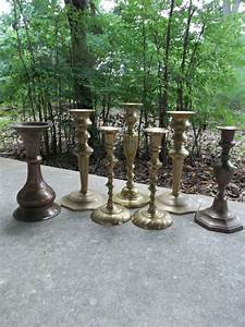 32 best brass candlesticks images on pinterest candle With kitchen cabinets lowes with wedding table candle holders