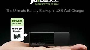 2 In 1 Battery Backup Usb Wall Charger With Microsd