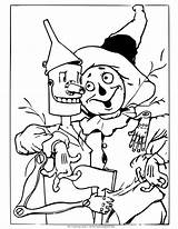 Wizard Oz Coloring Scarecrow Pages Tin Drawing Colouring Printable Being Print Dorothy Different Land Wicked Witch Shows Buddy Monkeys Princess sketch template