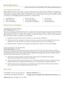 finance assistant resume objective exle accounting assistant resume free sle