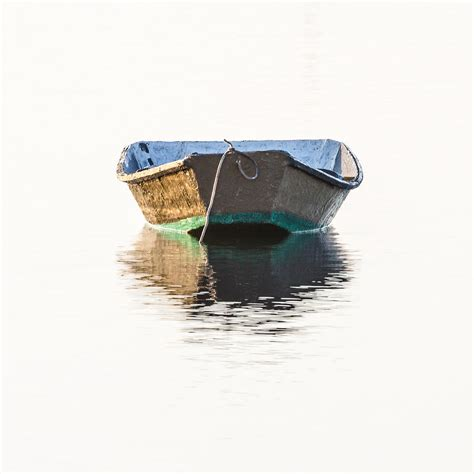 Row The Boat Versions by Lonely Row Boat Square Version Photograph By Bill Swindaman