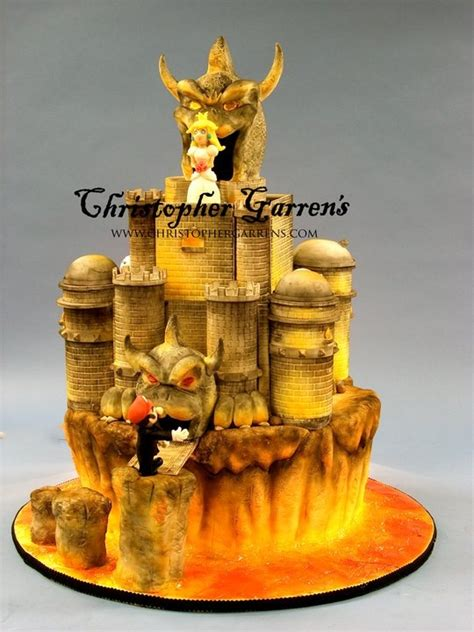 This Bowsers Castle Grooms Cake Will Blow Your Mind
