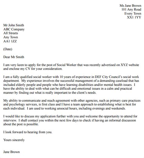 cover letter for family service worker cover letter for family service worker 28 images social work cover letter sle support