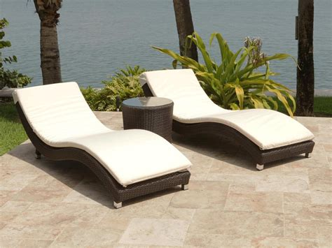 rattan chaise lounge outdoor source outdoor wave 3 wicker chaise lounge set