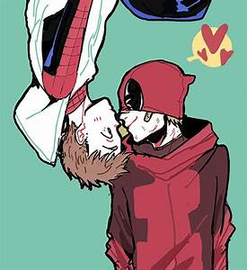 Wade Wilson and Peter Parker Deadpool and Spiderman ...