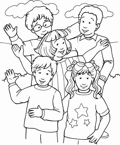 Coloring Pages Person Peoples Happy Sermons4kids Printable