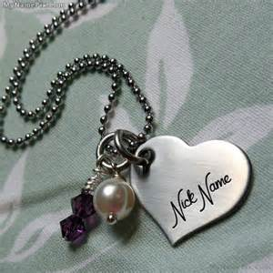 wedding wishes online personalized small heart necklace with name