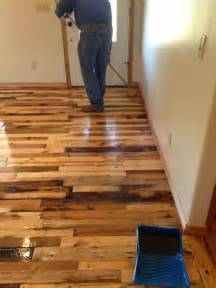 Can You Stain A Painted Deck by Diy Pallet Wood Flooring Diy Craft Projects