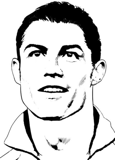 stampa disegno  cristiano ronaldo da colorare