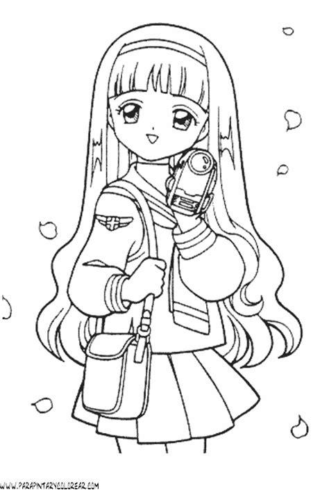 dibujos  colorear de chicas anime  del angel anime