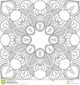 Mandala Seamless Kritzelt Nahtloses Muster Pattern Vector Coloring Gypsy Doodles Asian Fabric Mandalas Guardado Desde sketch template