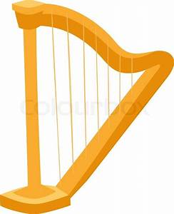 Harp vector Harp illustration Harp isolated on white