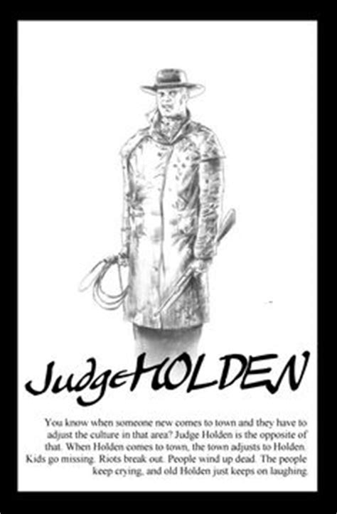 T-shirt of Judge Holden character from Cormac McCarthy's novel Blood Meridian | villians