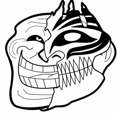 Troll Trollface Face Coloring Transparent Background Pages