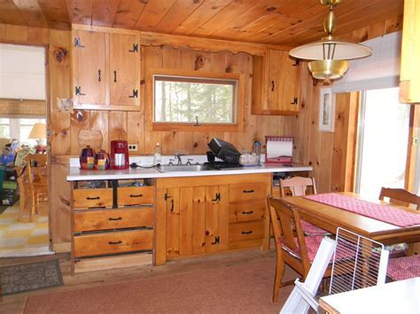 The Placement of the Pine Wood Furniture in the Kitchen