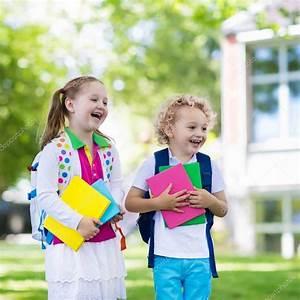 children going back to school year start stock photo