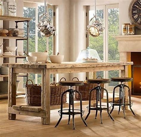 diy rustic kitchen island hogares frescos 30 fabulosas ideas para islas de cocinas 6889